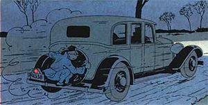 image voiture de Mitsuhirato dans Tintin et le Lotus Bleu