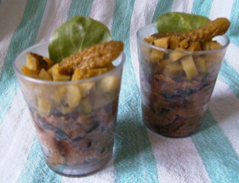 Verrines de pâté végétal