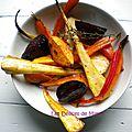 Légumes confits au four au sirop d'érable