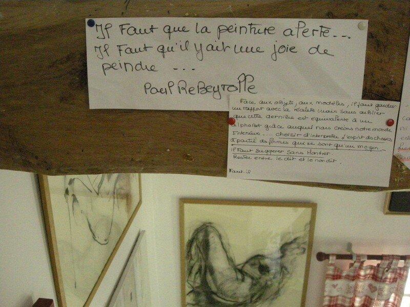 L'atelier /hommage à Reyberolles