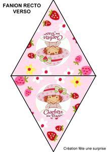 fanion recto verso charlotte aux fraises