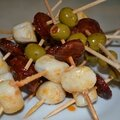 Brochettes saint jacques - chorizo - olives