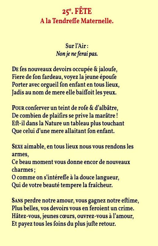 10 prairial chant de Sylvain Maréchal