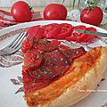 Tarte chorizo-tomate