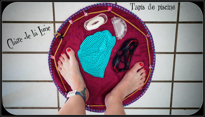Projet couture 2 tapis piscine