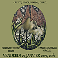 Concert flûte / orgue - vendredi 27 janvier 2017 - eglise de port-royal (75013)