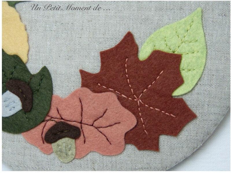Tableau rond automne 3