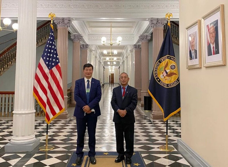 CTA-President-Lobsang-Sangay-and-representative-Ngodup-Tsering-at-the-US-White-House-on-Friday-Photo-CTA