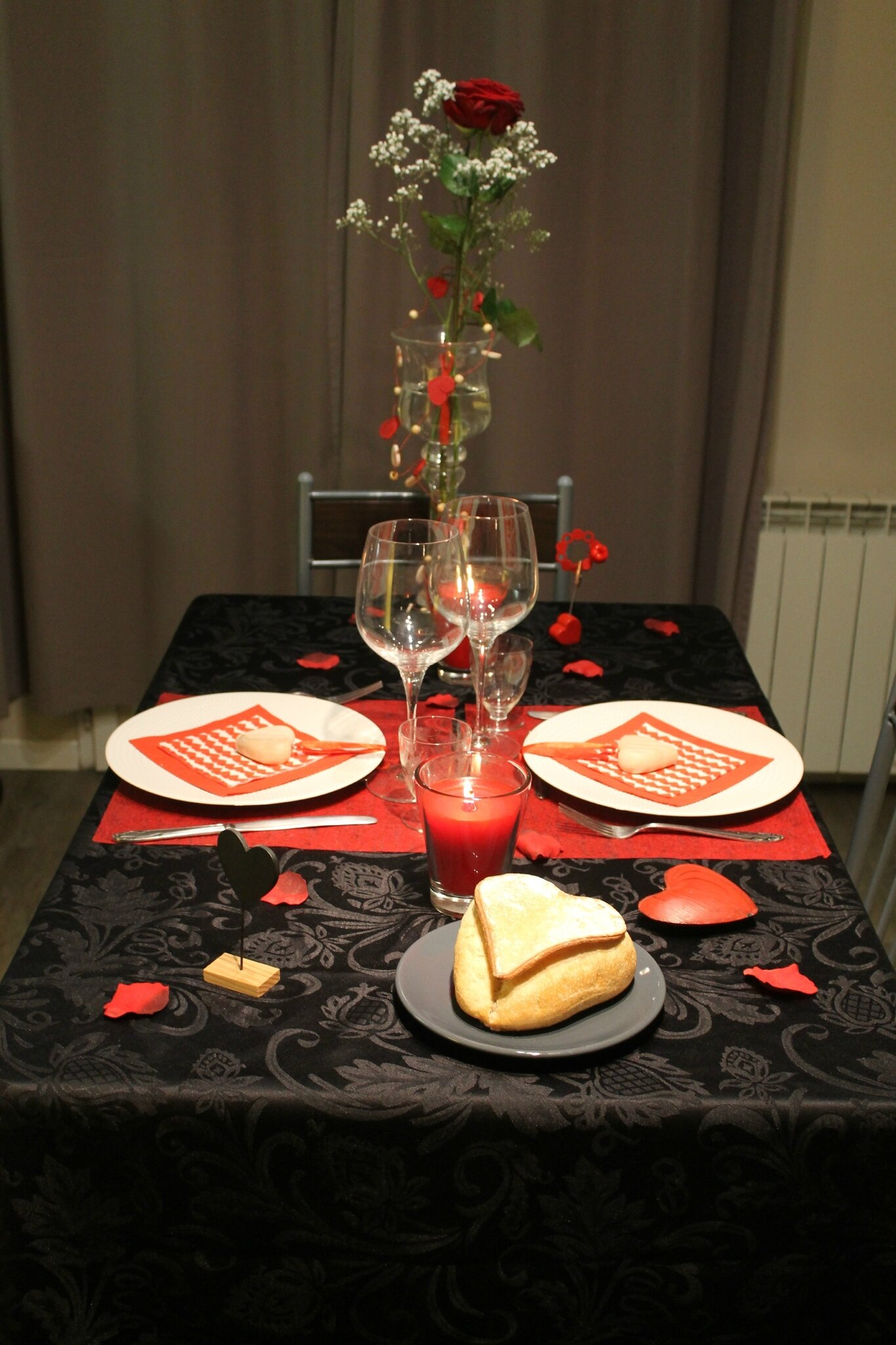 table de la saint valentin