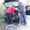 Préparation des vélos...