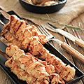 Brochettes de poulet a la tomate