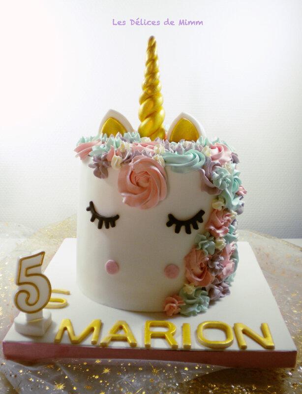 Le gâteau licorne de Marion 2