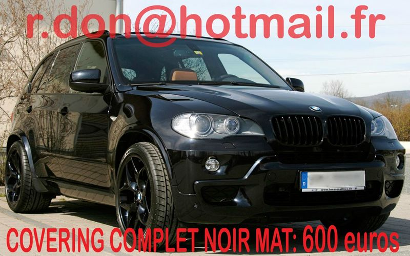 bmw x5 bmw x5 covering bmw x5 noir mat covering noir mat et peinture sur v hicules. Black Bedroom Furniture Sets. Home Design Ideas