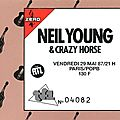 Neil young & crazy horse - vendredi 29 mai 1987 - palais des sports (paris)