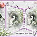 Cadre dentelle mariage