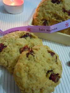 cookies flocons d'avoine cranberries (45)