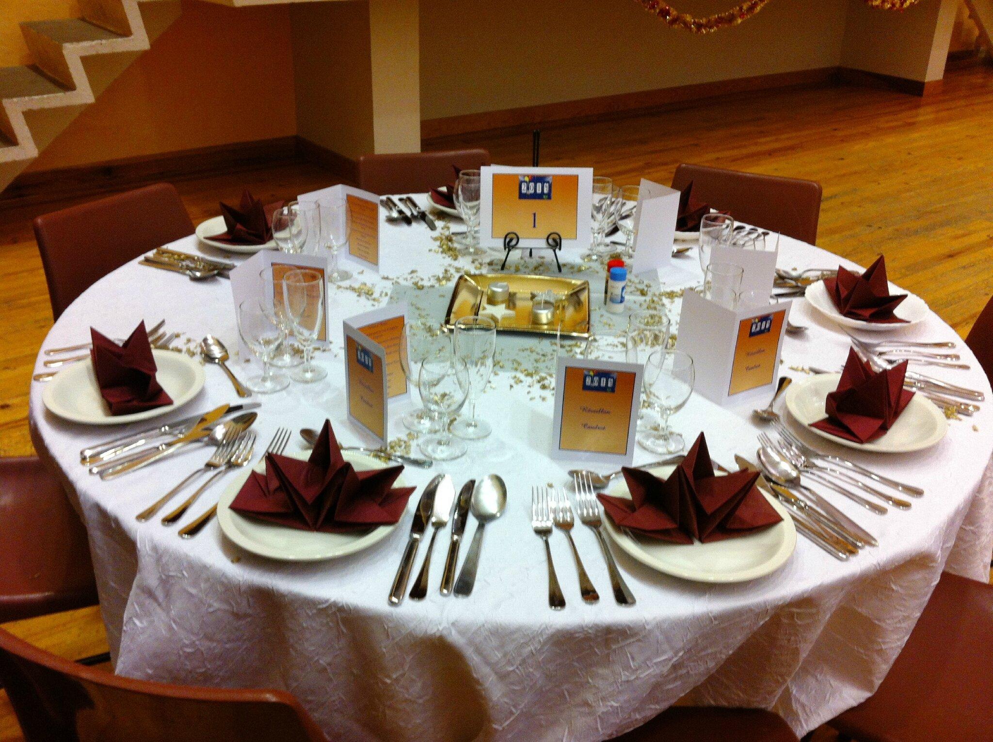 Nouvel an 2013 table installée