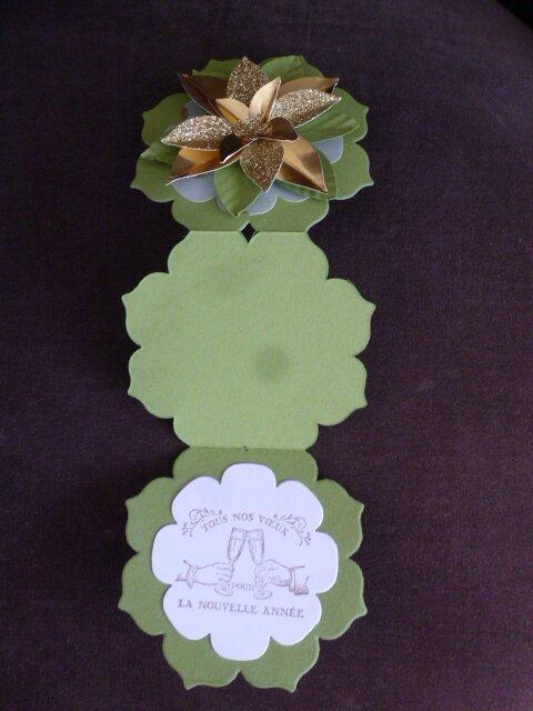 13 Carte Cadre floral Poinsettia d