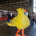 Cosplay d'un gros poussin