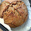 Mon pain seigle & mélasse (en cocotte ou au four direct)