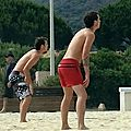 Jumeaux au beach volley