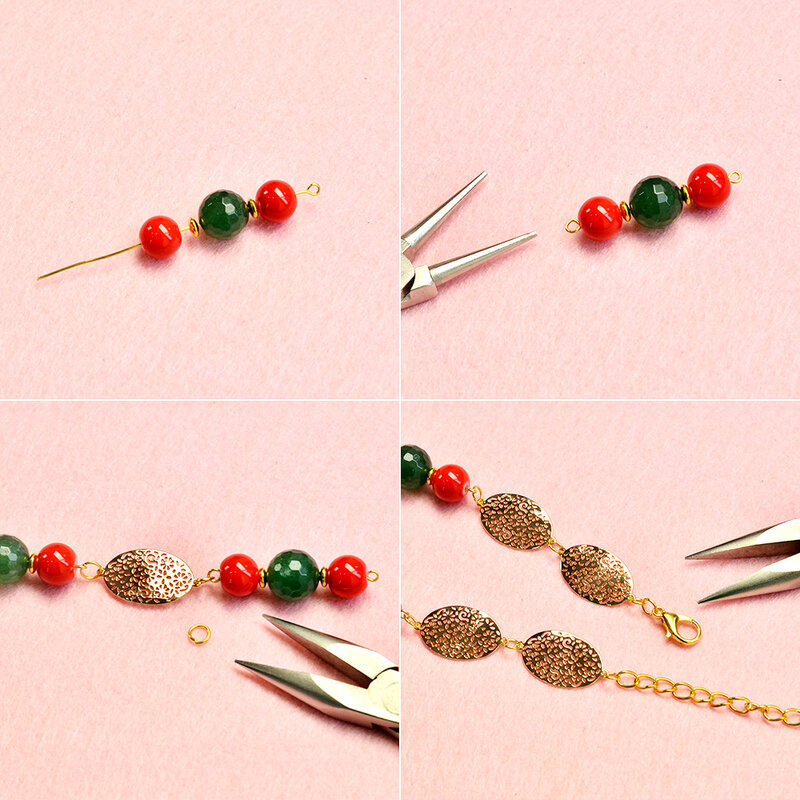 PandaHall-tutorials-on-Christmas-Necklace-with-Cute-Beads-2