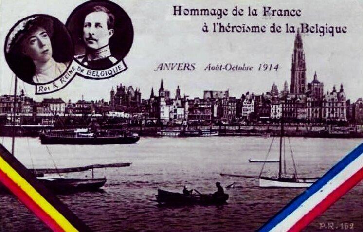 Hommage de la Fr à la Belg