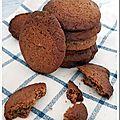 Cookies au blé noir, noix de pécan et chocolat