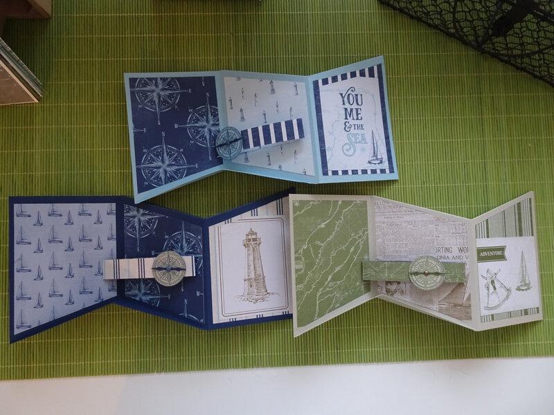 19c' Atelier Carte triptyque et Pavillon enneigé