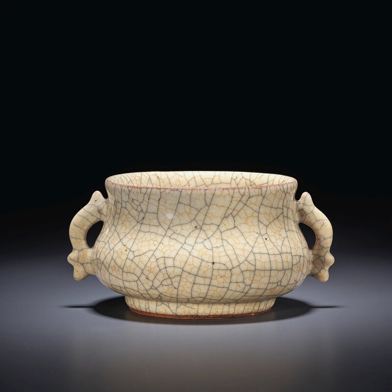 A very rare small Ge censer, Southern Song-Yuan dynasty, 12th-14th century