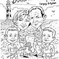 Caricature familiale !