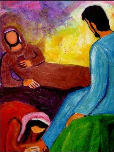 Marie essuie les pieds de Jésus, Berna Lopez