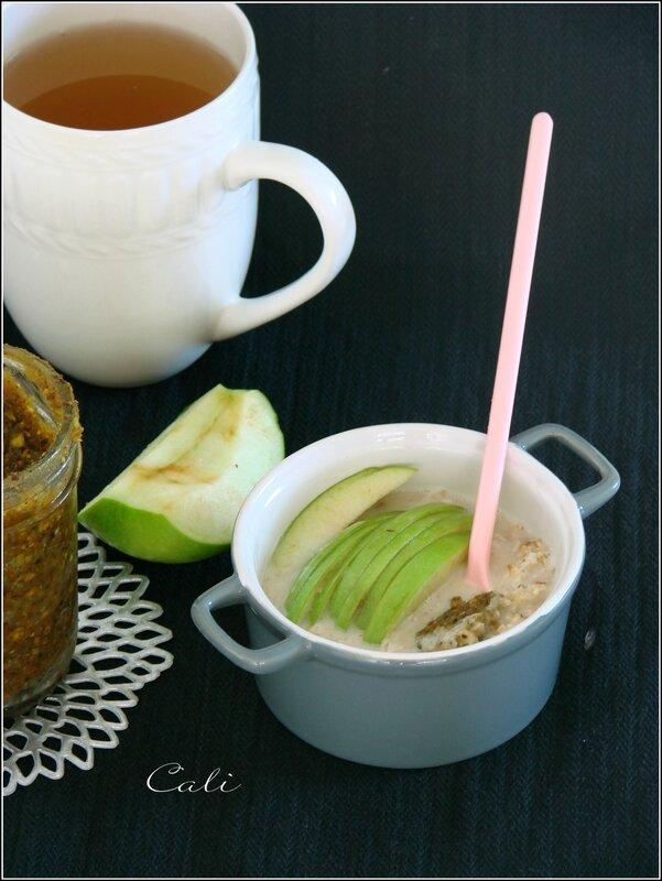 Overnight Porridge à la Pistache & Pomme Verte 001