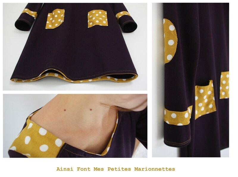 robe violette jaune 5