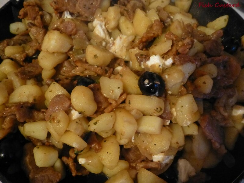 Gyros grec aux pommes de terre, olives et feta (2)