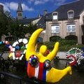 Château-Chinon, fontaine Niki de Saint-Phalle et Jean Tinguely (58)