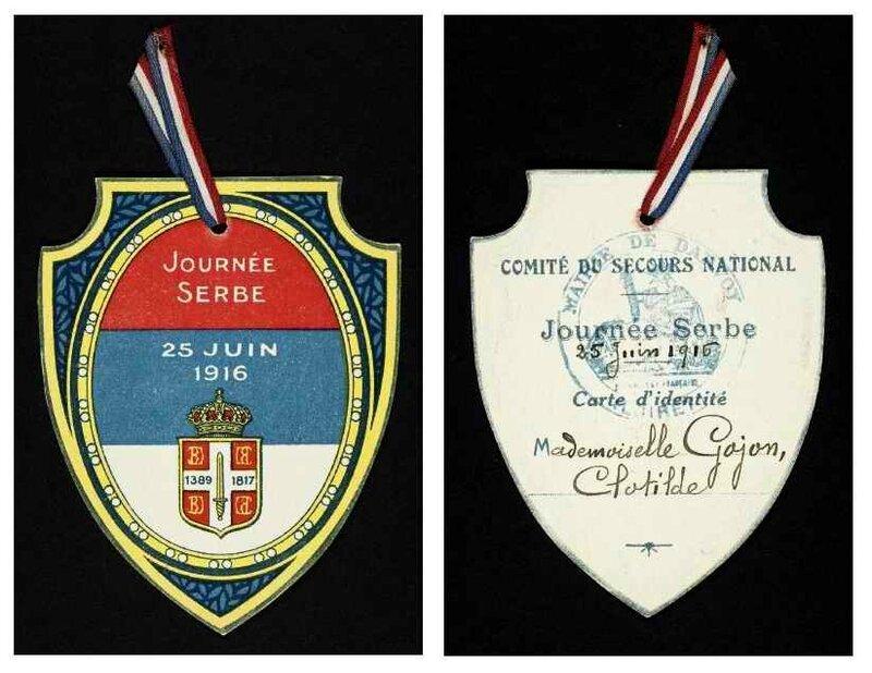 Médaille journée Serbe