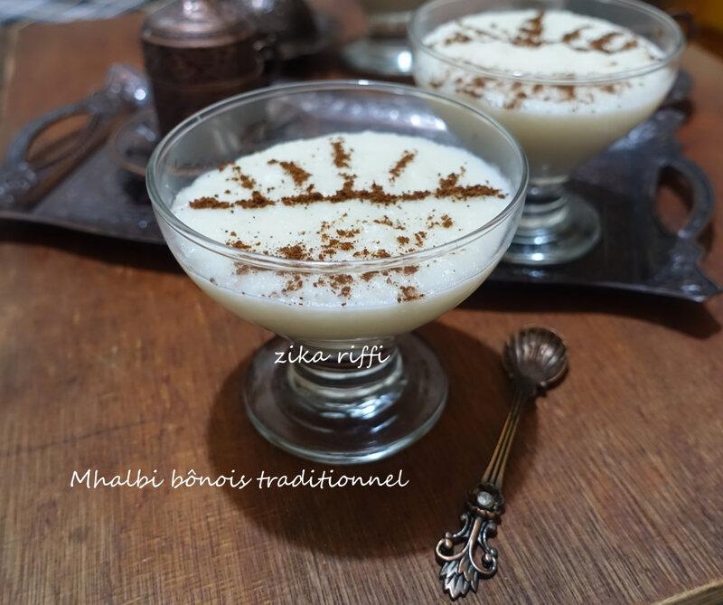 mhalbi bônois traditionnel en verrines 3