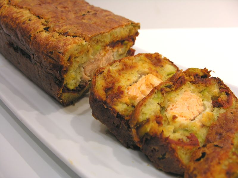 Cake Saumon Tomates Sechees