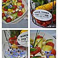 Tagliatelles de courgettes crues, tomates cerise, féta et fleurs de bourrache1