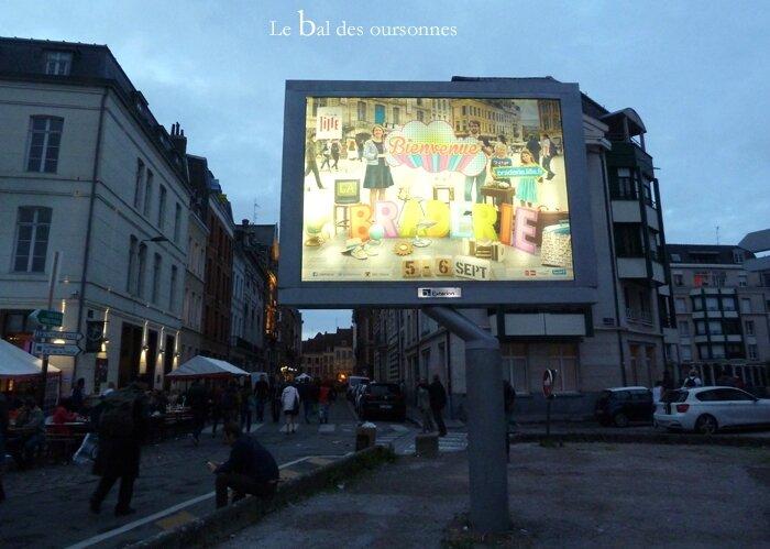 87 Brocante Braderie Lille 2015 Néon affiche
