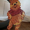 Quilling : winnie l'ourson