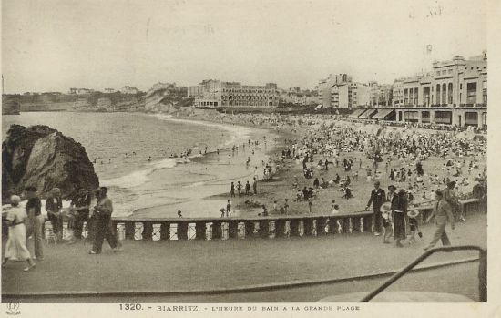 Biarritz en 1947 l'aprés guerre