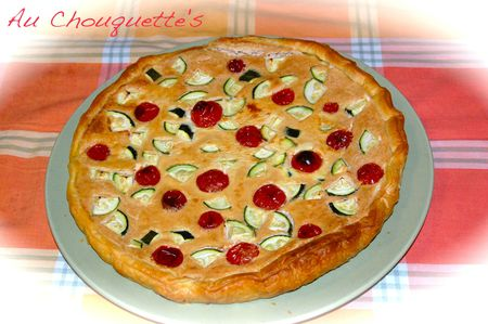 QUICHE TOFU COURGETTES