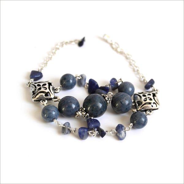 Bracelet Reve Bleu Sodalite triple rang2