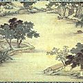 Mao xiang (chinese), transplanting rice seedlings, dated 1588