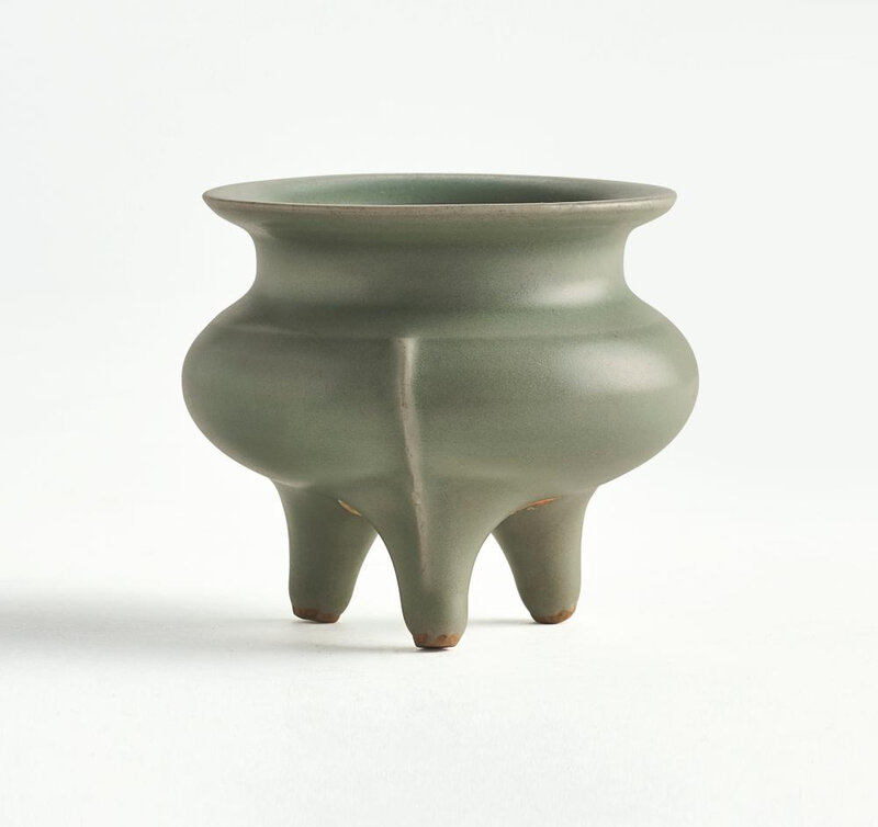 A 'Longquan' celadon tripod censer, Southern Song Dynasty (1127-1279)