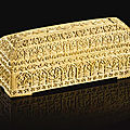 A carved ivory pen-box, deccan, 17th century
