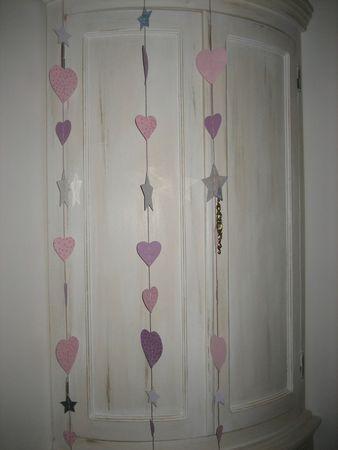 Love Guirlande strass rose et violet