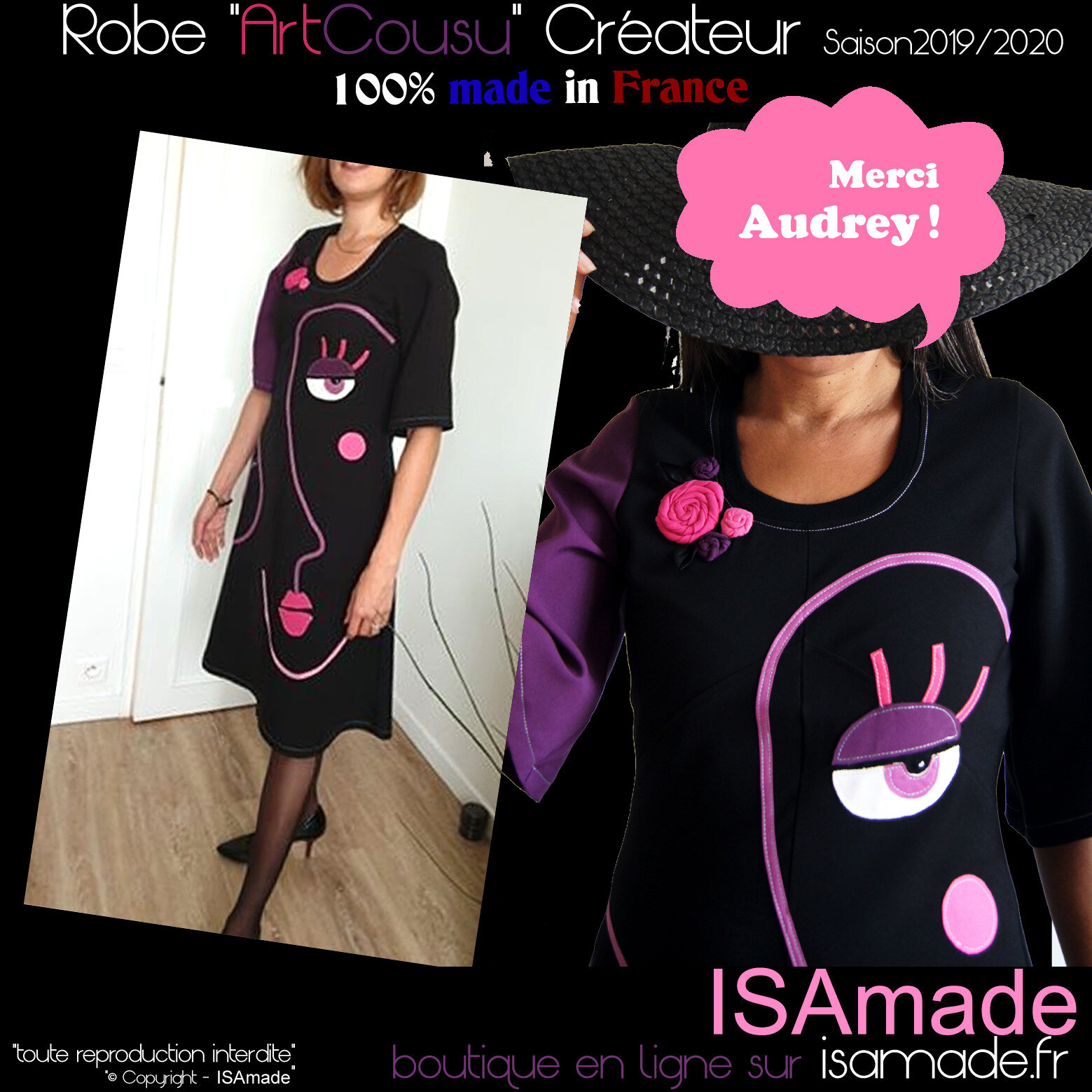 robe mi-longue design Originale & créateur « made in France »